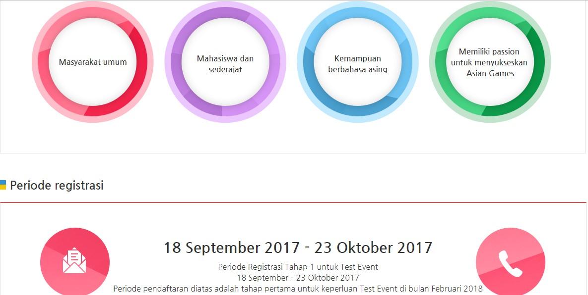 Volunteer Asean Games 2018
